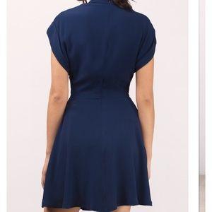 Tobi Dresses - Tobi navy front tie dress 222f54d18